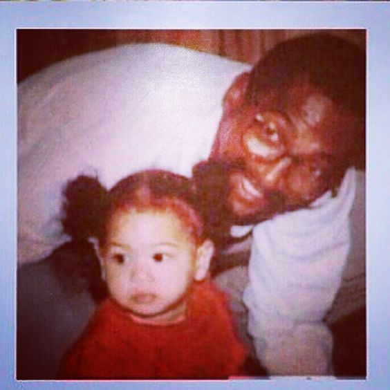 Pin for Later: Go Back in Time With These Adorable Throwback Photos of Celebrities With Their Dads Beyoncé The singer shared this precious snap from back in the day as a shout-out to her dad, Mathew Knowles.
