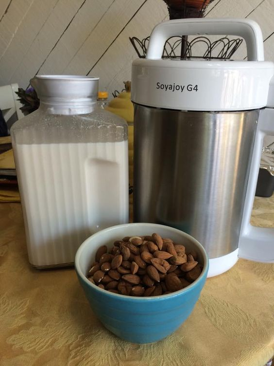 I just love making my home made organic almond milk with my Soyajoy milk maker.