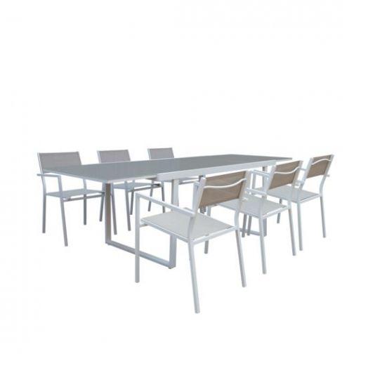 Carrefour Salon De Jardin Sofia Table Avec Allonge Et 6 Inside Carrefour Salon De Jardin Dengan Gambar