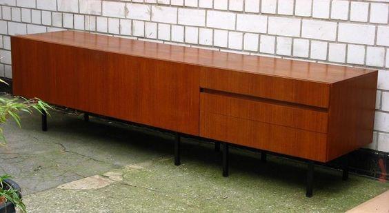 grosses Sideboard DIETER WAECKERLIN original BEHR Teakholz 60er