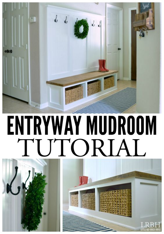 Entryway Garage Bench And Ikea Tv Stand On Pinterest