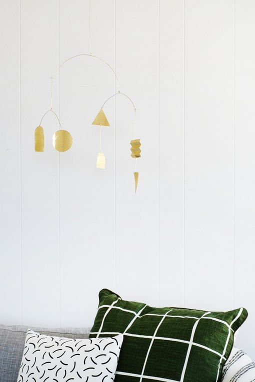 This Diy Modern Brass Mobile Works In Any Room Not Just Nurseries Modern Wind Chimes Diy Holiday Gifts Diy