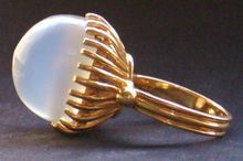 Large Vintage Estate Moonstone 14k Gold Cocktail Ring Fine, Shop Rubylane.com