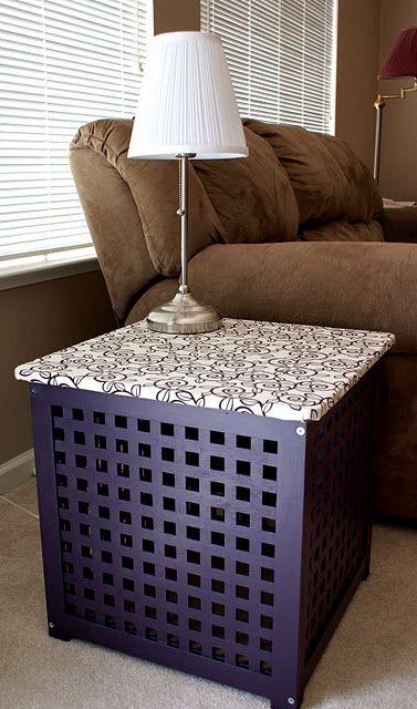 Cute idea for side table