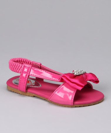 Loving this Fuchsia Bow Katie Sandal on #zulily! #zulilyfinds