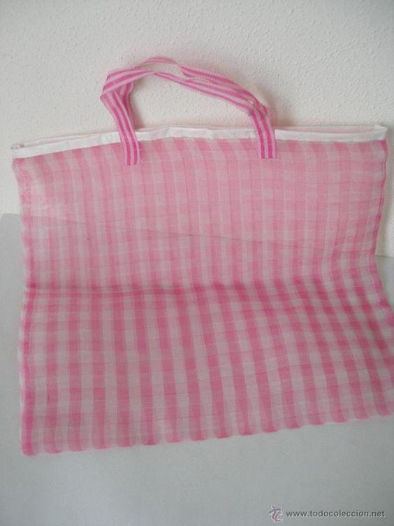 Bolsa de la compra color rosa años 70 , Sin uso a estrenar , etiqueta Festival fabricado en España - Foto 2: