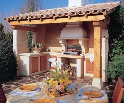 17 best images about terrasse gazebo cuisine for Barbecue exterieur