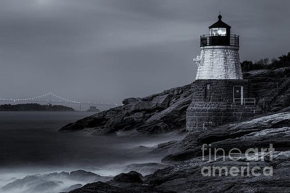 Castle Hill Lighthouse marks the entrance to the Narragansett Bay in Newport, Rhode Island. Completed in 1890 the lighthouse was built into the cliff face. The light is built out of granite and stands thirty-four feet tall. This is a copyrighted photo. If you wish to purchase this photo or any other of my fine art prints, please visit my website at; http://jerryfornarotto.artistwebsites.com/