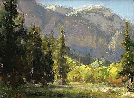 Yosemite, by Kathryn Stats, T-12 by ART FOR CHEROKEE Oil ~ 9 x 12