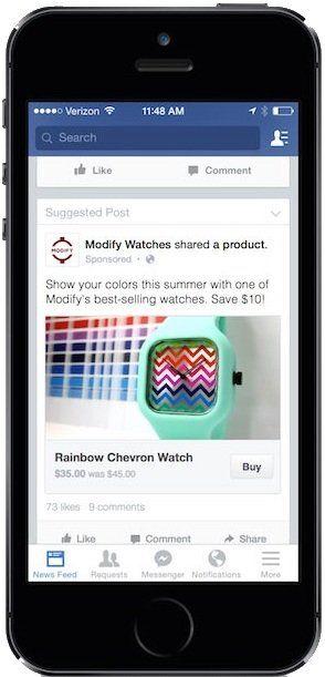 """Facebook pone a prueba el botón """"Comprar"""" - Techlife CA"""