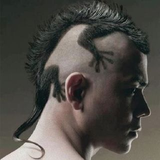 What a hairstyle ...