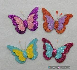 Aprende Como Hacer Estas Hermosas Mariposas De Foami Mimundomanual Artesanias De Mariposa Manualidades Como Hacer Mariposas