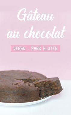 gâteau au chocolat super simple, végane et sans gluten. Oh miracle, j'ai tout ce qu'il faut en stock. Miam !