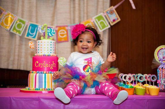 Rainbow Lollipop 1st Birthday