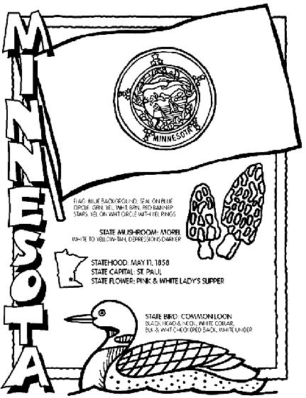crayola state coloring pages - minnesota state symbol coloring page by crayola print or