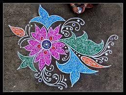 peacock rangoli designs for diwali free hand - Google ...
