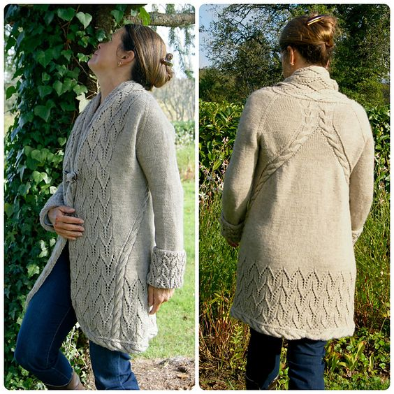 Ravelry: Winter Rosina Jacke pattern by FadenStille Beautiful! I would change the sleeve cuffs so that they don't have to be flipped back, too bulky.