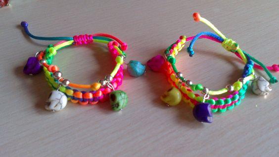 pulseras hechas con cordon - Buscar con Google