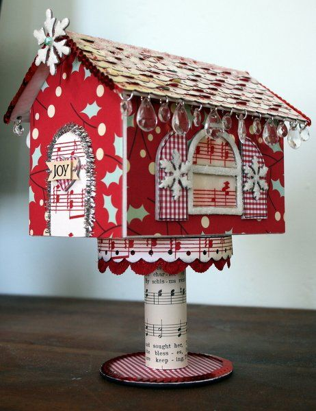 Katiebeecreative's Gallery: ~Sparkly Holiday House~Maya Road and Cosmo Cricket