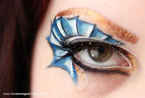 Sailor Uranus inspired make up by http://www.missxtravaganz.blogspot.de/2013/02/schminkaktion-makeup-dreamz-sailor.html
