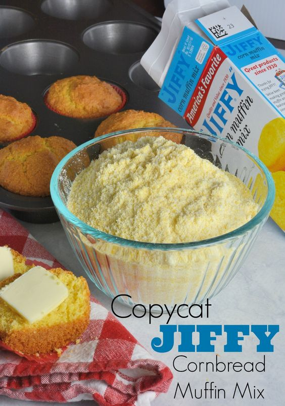 copycat Jiffy Cornbread Muffin Mix Recipe- 5 ingredients.  No artificial ingredients