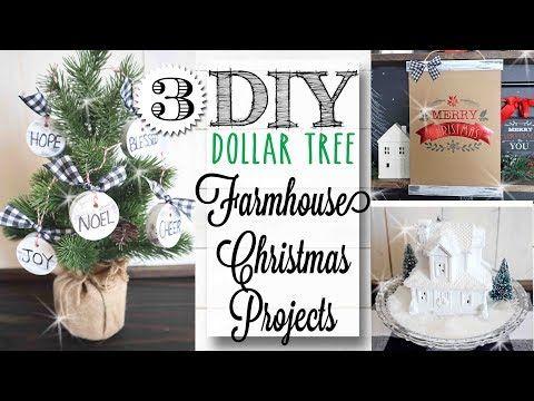 1327 Diy Dollar Tree Farmhouse Christmas Crafts 12 Of 12 Days Of Christmas Youtube Dollar Tree Diy Crafts Dollar Tree Diy Dollar Tree Christmas Decor