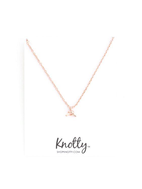 Love Me Knot Tiny Charm Necklace