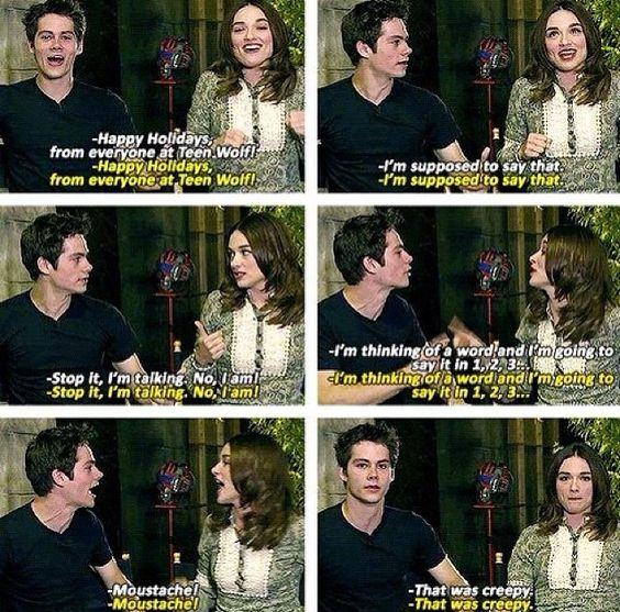 Dylan O'Brien and crystal reed | Teen Wolf ☾ | Pinterest ...