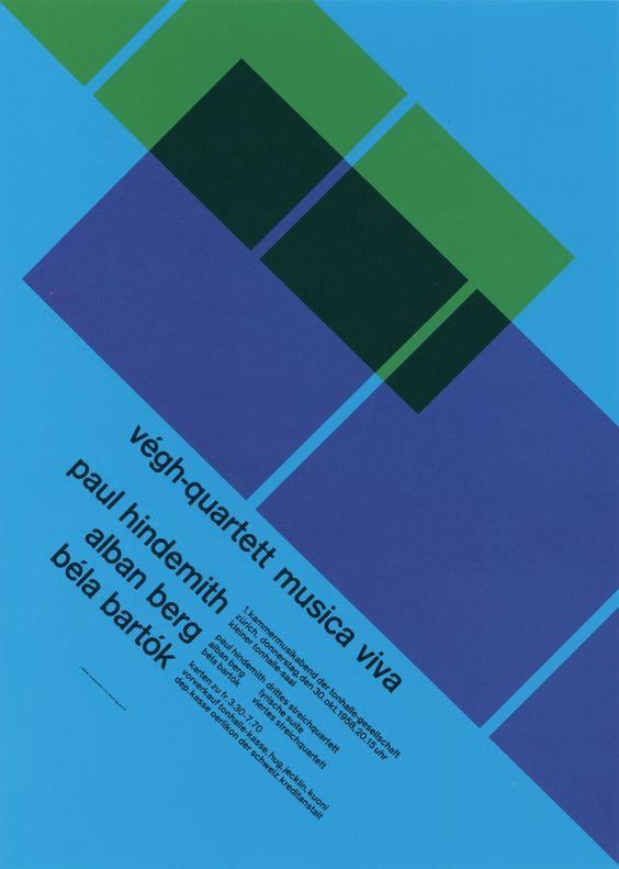 Musica viva Concert poster - Müller-Brockmann, 1958