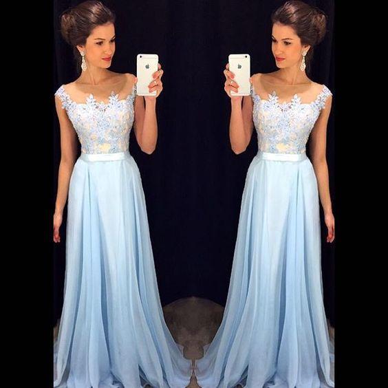 Bg1225 Sexy Prom Dress,Blue Prom Dresses,A Line Prom