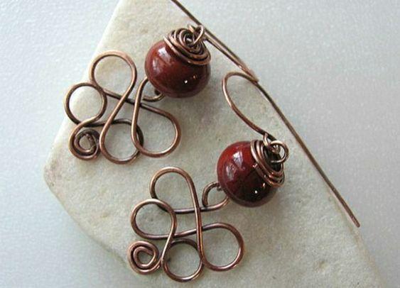 rote Ohrringe selber machen