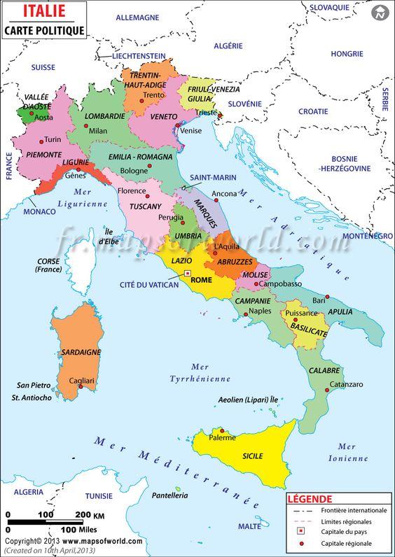 carte du monde italie - Google Search