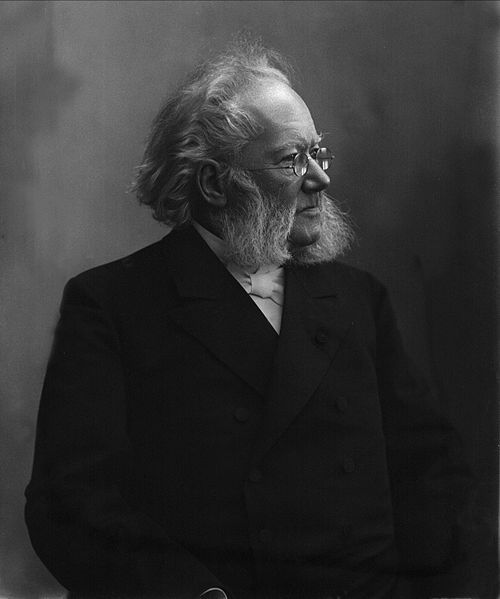 Henrik Ibsen: To use the stage to show us that we are not what we pretend we are, and what we pretend we are is not be admired, while showing us a way out. Thank you.