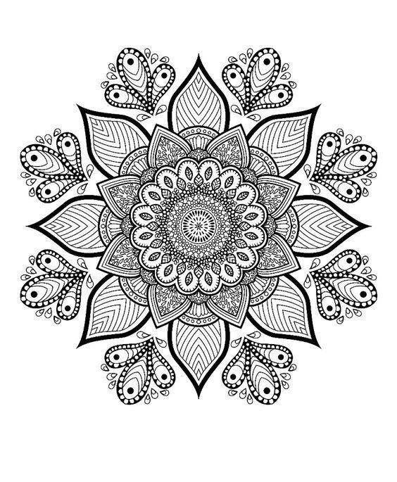 High Quality Mandala Coloring Pages Free And Printable Mandala Boyama Sayfalari Sanat Terapisi