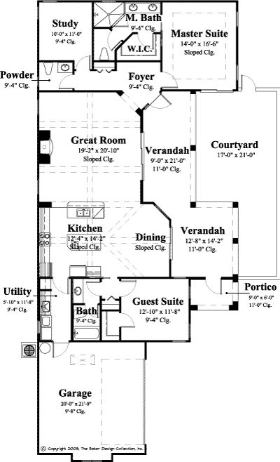 1 Story Narrow Lot House Plan Home And Decor