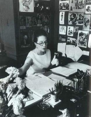 Diana Vreeland's desk at Vogue