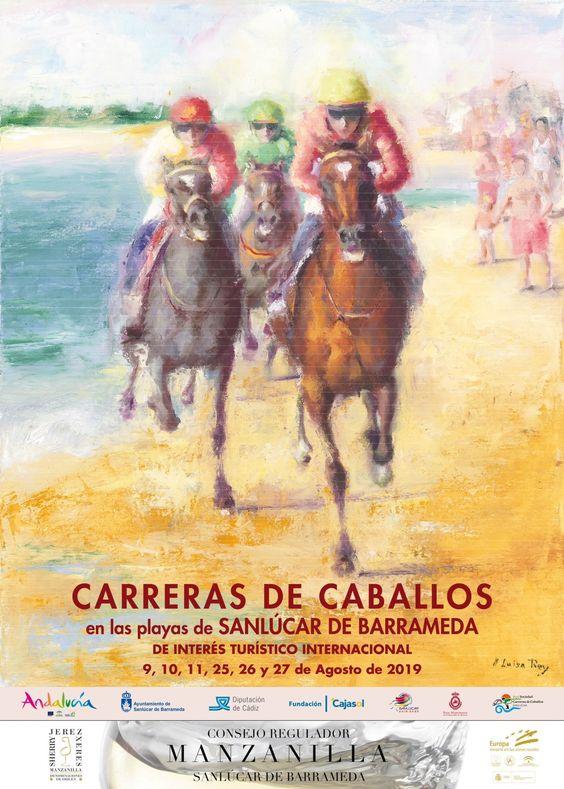 Cartel Carreras Sanlucar de Barrameda 2019 María Luisa Rey Barroso