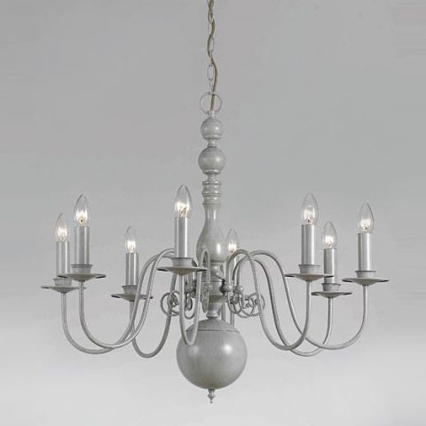 Impex Bologna Flemish 8 Light Ceiling Chandelier A