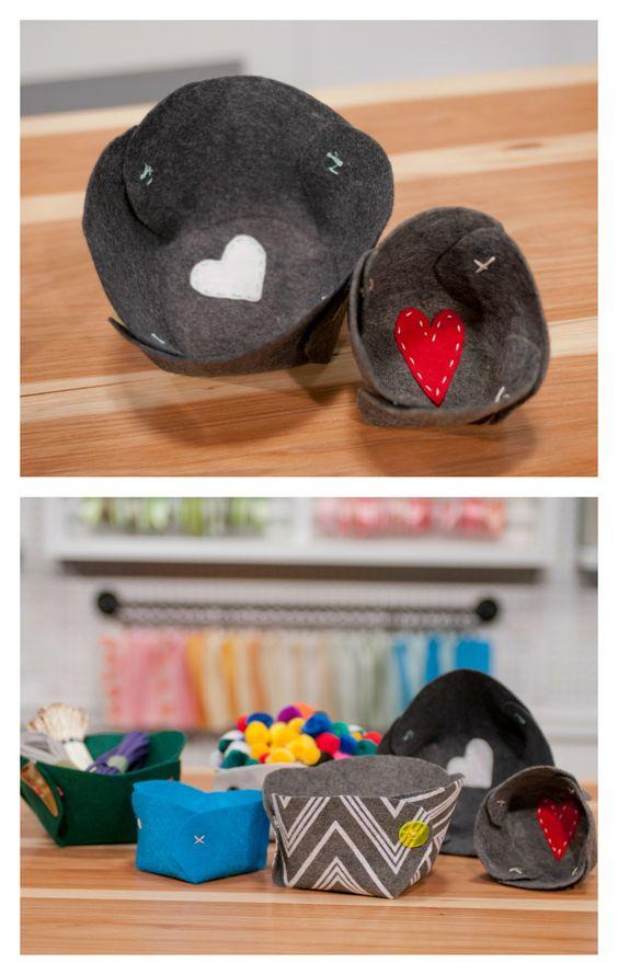 HGTV Crafternoon: DIY Handmade Felt Bowls (http://blog.hgtv.com/design/2014/03/04/hgtv-crafternoon-diy-handmade-felt-bowls/?soc=pinterest)