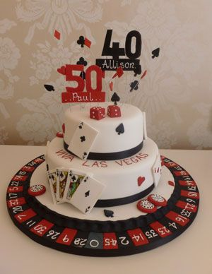 Las Vegas themed birthday cake  Vegas style party ideas  Pinterest ...