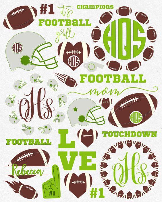 Svg Football Svg Football Mom Svg Football by HighQualitySVG
