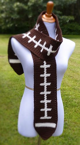 Knitting Pattern For Football Scarf : Football Scarf pattern by Doni Speigle Mom, Stitches and ...