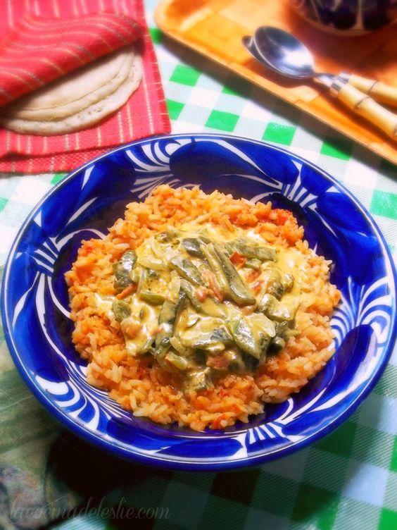 Rajas con Crema (Roasted Poblano Pepper Strips w/ Cream)