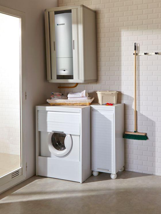 Crea una zona de lavaderos agradable y funcional a la vez - Mueble plancha leroy merlin ...