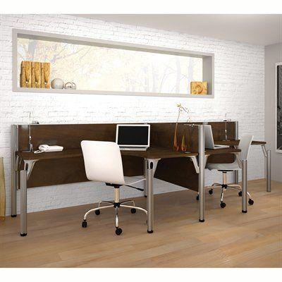 Bestar 100856A-6 Pro-Biz Double Side-by-Side L-Desk Workstation