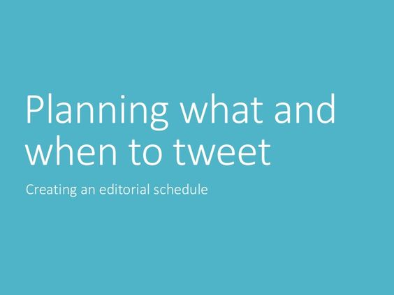 Planning what and when to tweet via slideshare