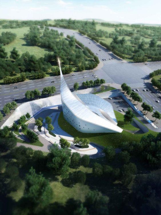 Futuristic Architecture 'Dove of Peace' Church / WEAVA Architects