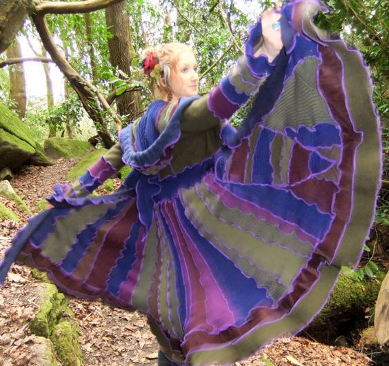 SALE Price  Earthy hippie Coat  READY to SHIP by Fairytea on Etsy, €215.00