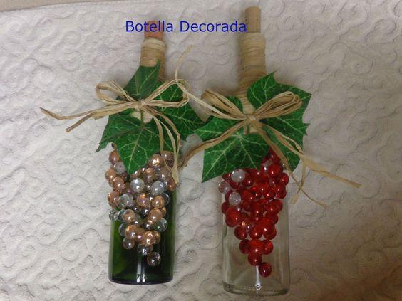 Botella decorada video manualidades de navidad - Botellas de plastico decoradas ...