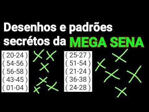 Desenhos E Padroes Secreto Da Mega Sena Youtube Mega Sena